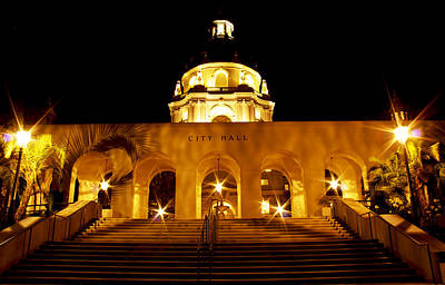 Photograph - Pasadena City Hall by Rollie Robles