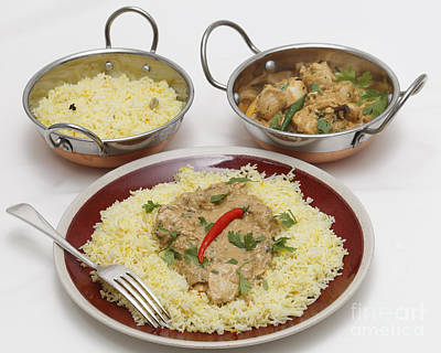 Photograph - Pasanda Chicken Curry With Serving Kadai Bowls by Paul Cowan