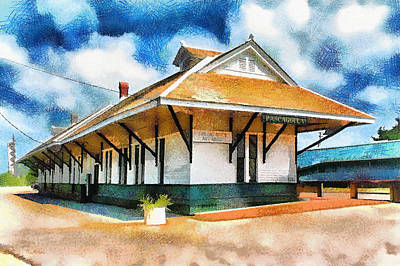 Photograph - Railroad - Nostalgic - Architecture - Pascagoula Train Depot by Barry Jones
