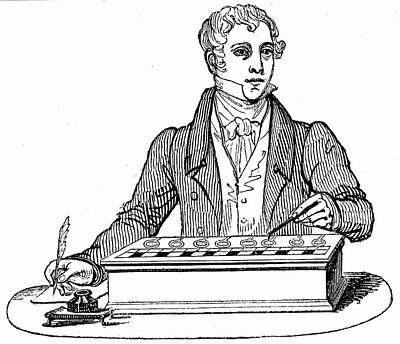 1835 Photograph - Pascal Adding Machine by Universal History Archive/uig