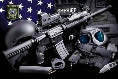 Pasco Sheriff Tactical Art Print by Gary Yost
