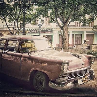Instacnvs Photograph - Paseo Del Prado - Havana (american Car by Joel Lopez