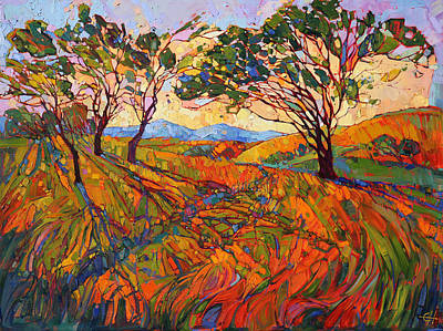 Nature Abstract Painting - Paso Mosaic by Erin Hanson