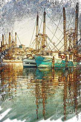 Pass Christian Harbor Sketch Art Print