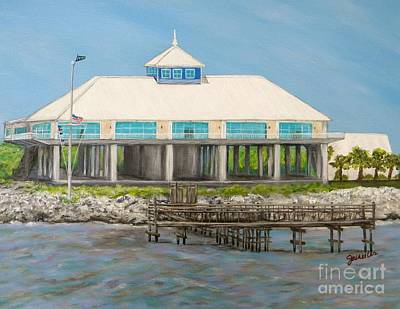 Yacht Club Painting - Pass Christian Yacht Club by JoAnn Wheeler