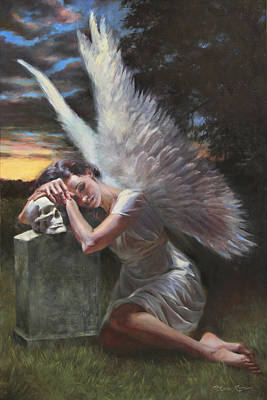 Night Angel Painting - Passage by Anna Rose Bain