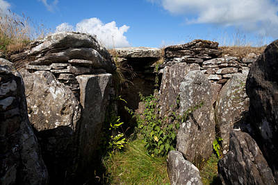 Megalithic Photograph - Passage Grave,carbane West, Loughcrew by Panoramic Images