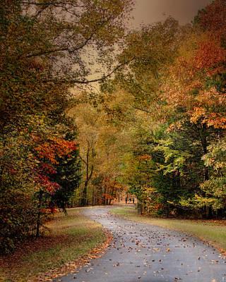 Autumn Scene Photograph - Passage Of Time - Autumn Landscape by Jai Johnson