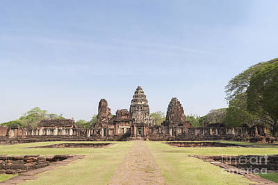 Phimai Photograph - Passage Way Of Prasat Hin Phimai Temple In Thailand by Roberto Morgenthaler