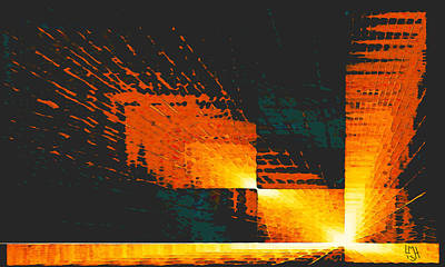 Digital Art - Passages 2 7545a5 by Mickey Harris