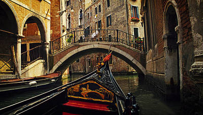 Passages Of Venice Art Print by Andrew Soundarajan