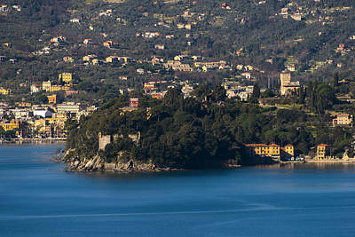 Photograph - Rapallo And Pagana Coast Panorama by Enrico Pelos