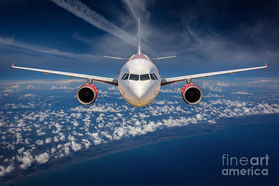 Passenger Plane Photograph - Passenger Airliner  by Anek Suwannaphoom