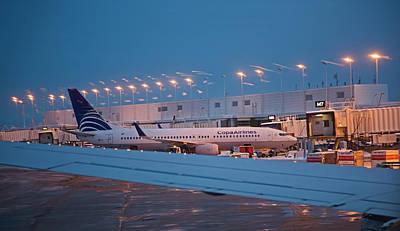 Passenger Airliner At Terminal Art Print