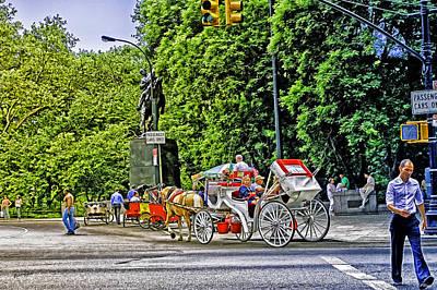 Passenger Cars Only - Central Park Art Print by Madeline Ellis