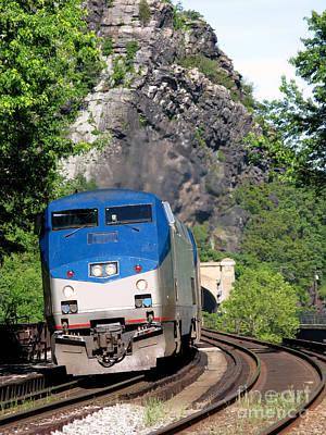 Photograph - Passenger Train Locomotive by Olivier Le Queinec