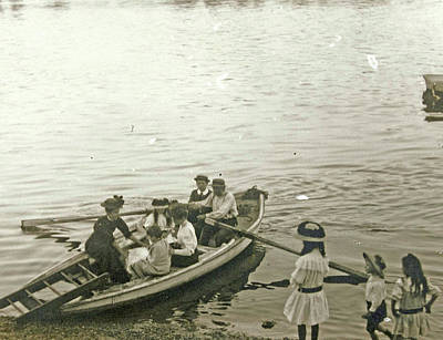 Passengers In A Rowboat, Anonymous Art Print
