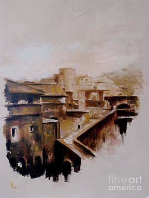 Painting - Passetto Di Borgo / Rom by Karina Plachetka