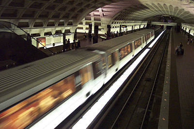 Passing Metro Train Art Print