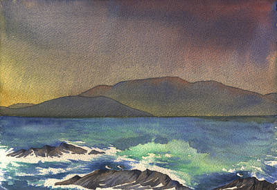 Painting - passing storm in Bantry bay by Kate Shannon