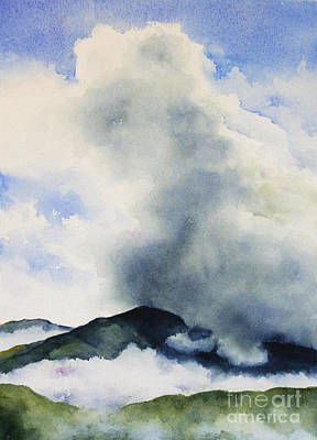 Painting - Passing Storm On Mt. Diablo by Glenyse Henschel