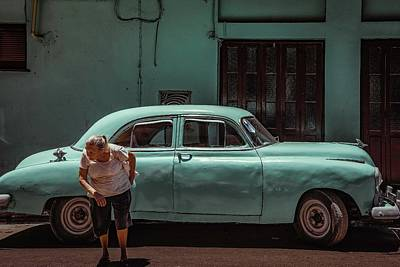 Havana Photograph - Passing Street by Andreas Bauer