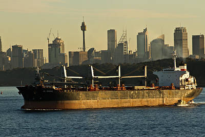 Photograph - Passing Sydney In The Sunset by Miroslava Jurcik
