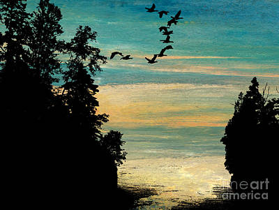 Passing The Cove Art Print by R Kyllo