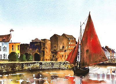 Passing The Spanish Arch Galway Art Print