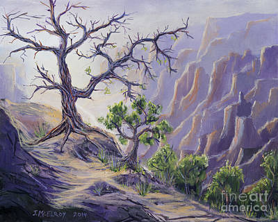 Sunset Grand Canyon Painting - Passing The Torch by Jerry McElroy