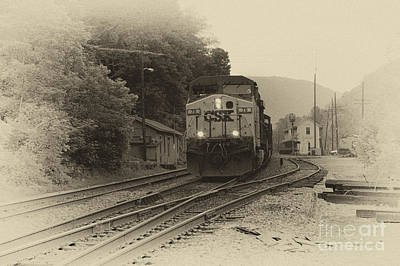 Thurmond Wall Art - Photograph - Passing Train by Thomas R Fletcher