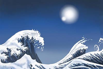 Digital Art - Passing Wave by Douglas Day Jones