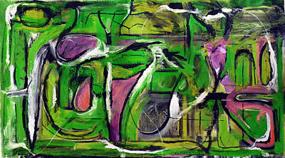 Baselitz Painting - Passion by Antonio Ortiz