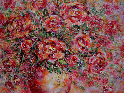 Designers Choice Painting - Passion Bouquet by Natalie Holland