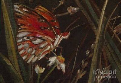 Passion Butterfly - Gulf Fritillary Art Print by Mary Hubley