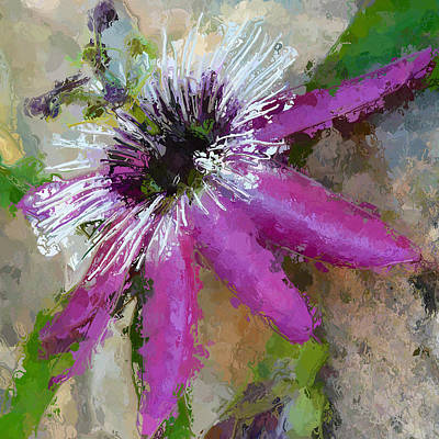 Artography Painting - Passion Flower by Amanda Lakey
