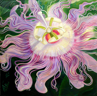 Painting - Passion Flower by Anne Cameron Cutri