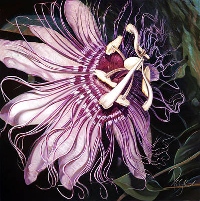 Painting - Passion Flower by Donna Page