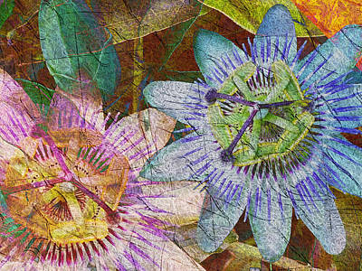 Digital Art - Passion Flowers by Kiki Art