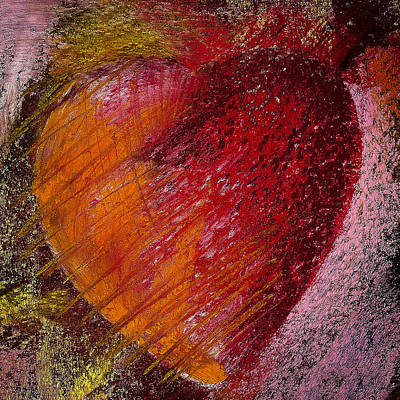 Impressionistic Photograph - Passion Heart by David Patterson