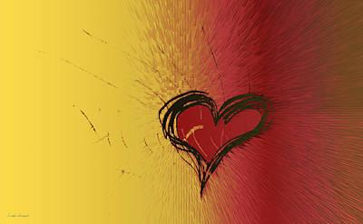 Valentines Day Digital Art - Passion Heart by Linda Sannuti