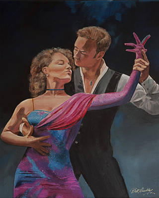 Ballroom Painting - Passion In Dance by Bill Dunkley