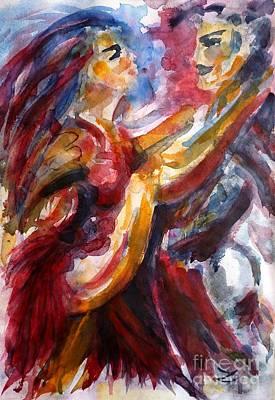 Painting - Passion Is Tango by Zaira Dzhaubaeva