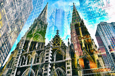Creative Photograph - Passion Nyc Cathedrals And Synagogues  by Sabine Jacobs