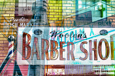 Harlem Digital Art - Passion Nyc Harlem Barber Shop by Sabine Jacobs