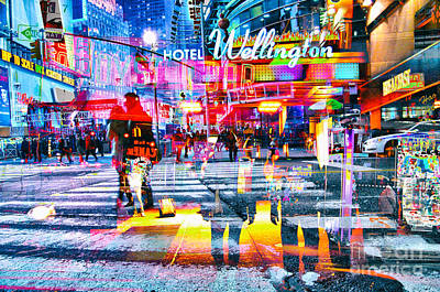 American City Scene Digital Art - Passion Nyc Hotel Wellington Times Square by Sabine Jacobs