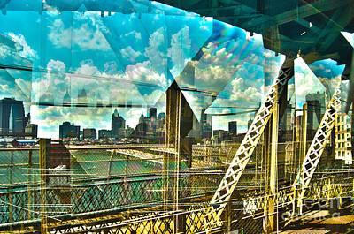 Manhattan Photograph - Passion Nyc Train Over Manhattan Bridge by Sabine Jacobs