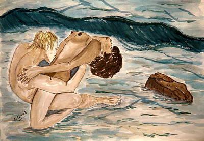 Passion Of Love. Art Print by Shlomo Zangilevitch