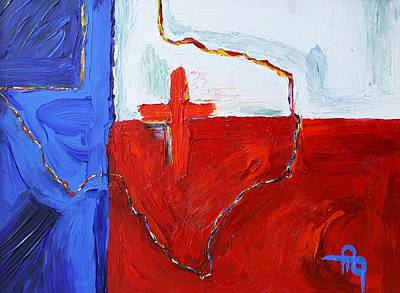 Lone Star State Painting - Passion Of Texas by Michael Greeley
