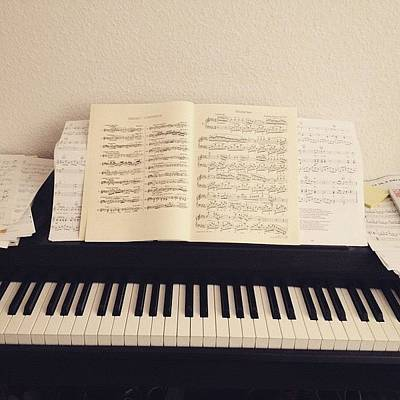 Chopin Photograph - #passion #piano #music #progress by Louisa Beckmann